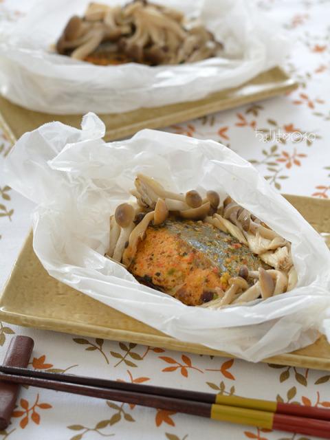 大森屋料理教室_鮭のふりかけ包み蒸し2