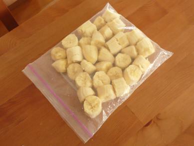 バナナは密閉袋に・・・