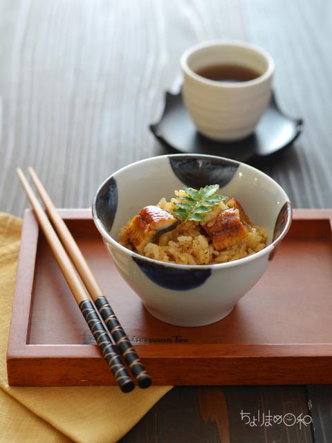 レンジでうなぎおこわ_献立レシピ201807