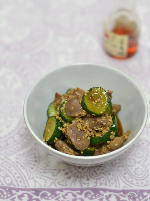 中華風砂肝きゅうり2