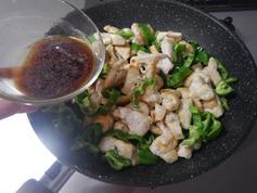むね肉とピーマンのガーリックめんつゆ炒め190611-P8