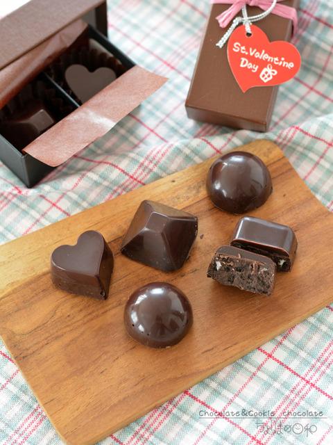 二層のチョコ&クッキーチョコ_ショコラキューブビター2001-3