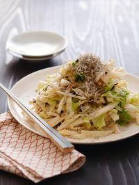 純白塩昆布ドレッシングの白菜サラダR