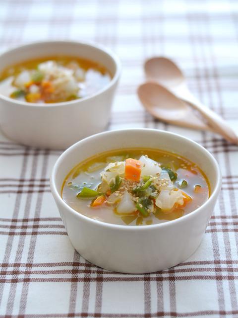 ピリ辛野菜スープR