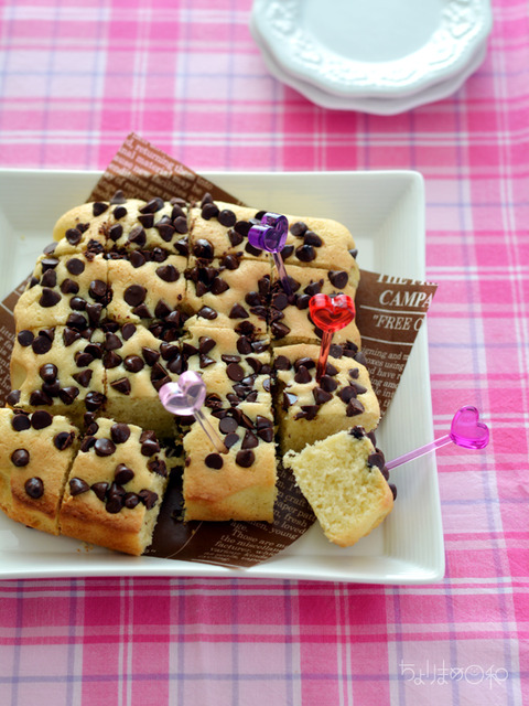 チョコチップアーモンドプチケーキ_献立レシピ1702-2