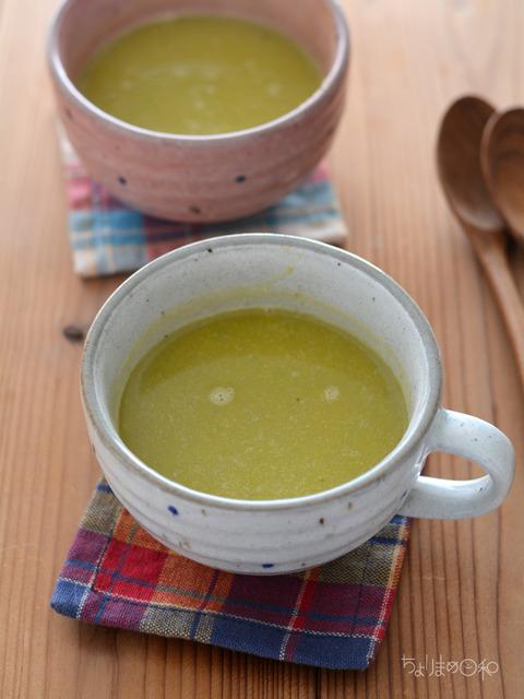 晩ごはん190307_アーモンドミルクのかぼちゃスープ