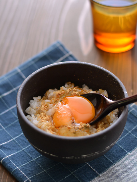 きなこ醤油の卵かけごはんR3