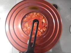 豚トマフライパン蒸し 野菜増し増し190608-P5