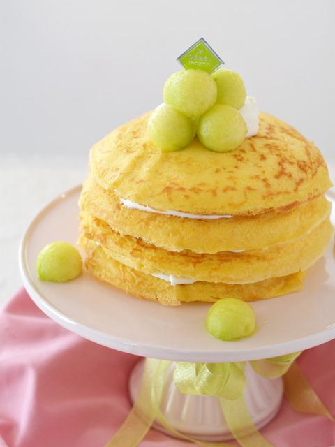 メロンのクレープケーキR5