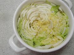 白菜と豚肉の鍋蒸しP