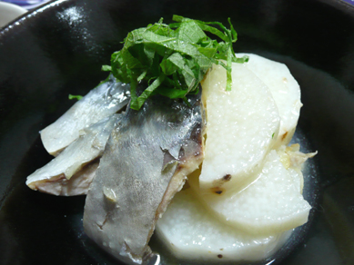 鯖と長いもの塩煮