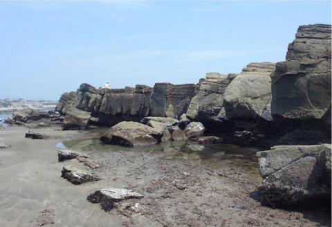 たたみ岩の崩落