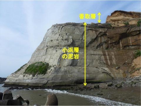 岬状のWhiteClifの側面