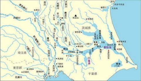 千年前の関東の地勢図Big