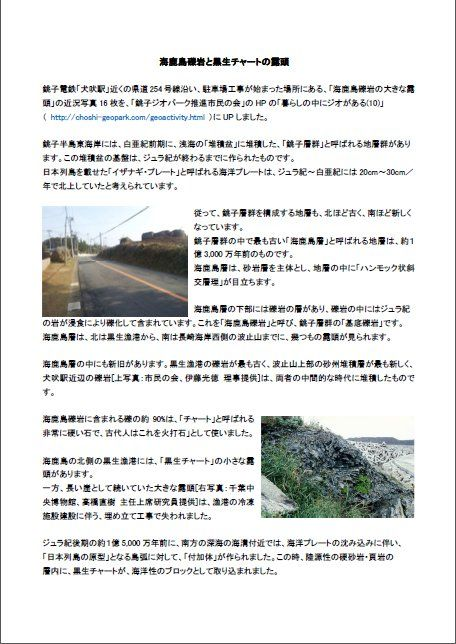 海鹿島礫岩と黒生チャート