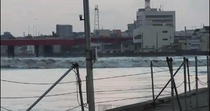 川口漁港津波