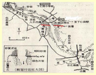 大北野~岩山断層地図Ed4