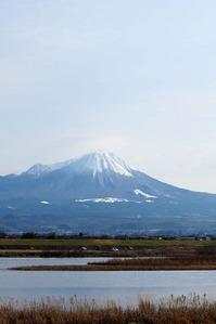 米子市古豊千から見た大山