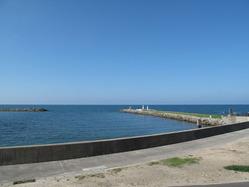 ウッドデッキから眺めた海