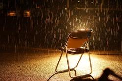 ゴールに降る雨