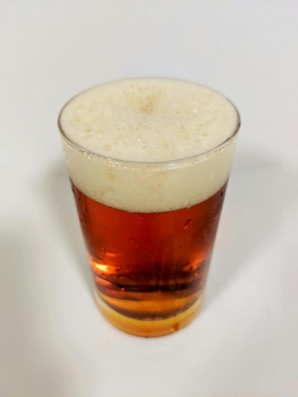 グラスに注がれた発泡酒