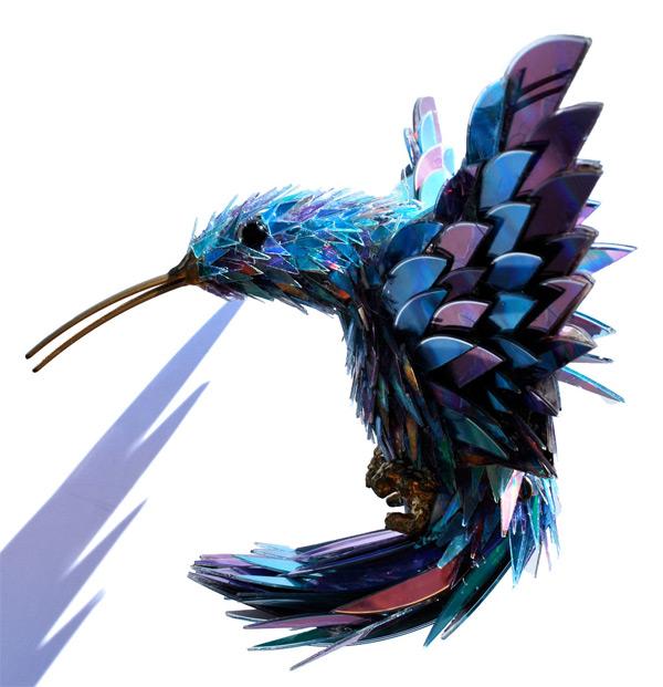 animal-sculptures-made-from-cds-4(拡大表示)