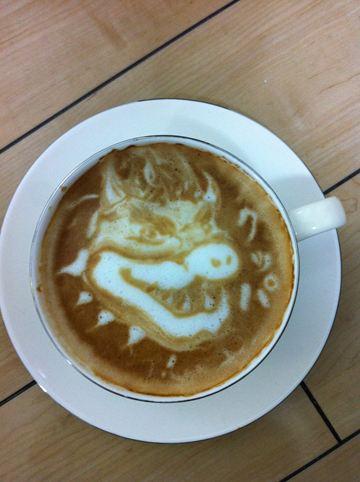 コーヒーアート013(拡大表示)