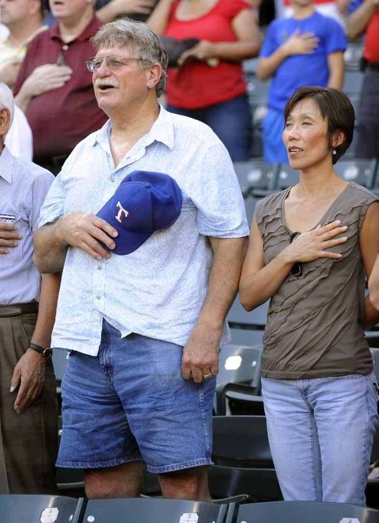 スタン・ハンセンが野球観戦(拡大表示)