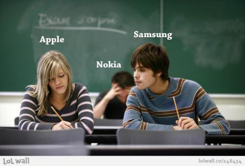 Appleとサムスンとノキア(拡大表示)