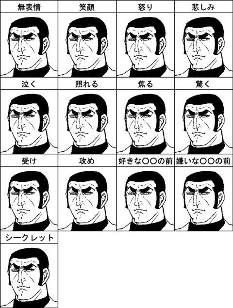 ゴルゴの表情(拡大表示)