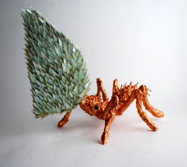 animal-sculptures-made-from-cds-7(拡大表示)