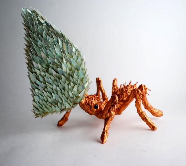 animal-sculptures-made-from-cds-7(拡大表示)