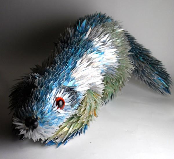 animal-sculptures-made-from-cds-5(拡大表示)