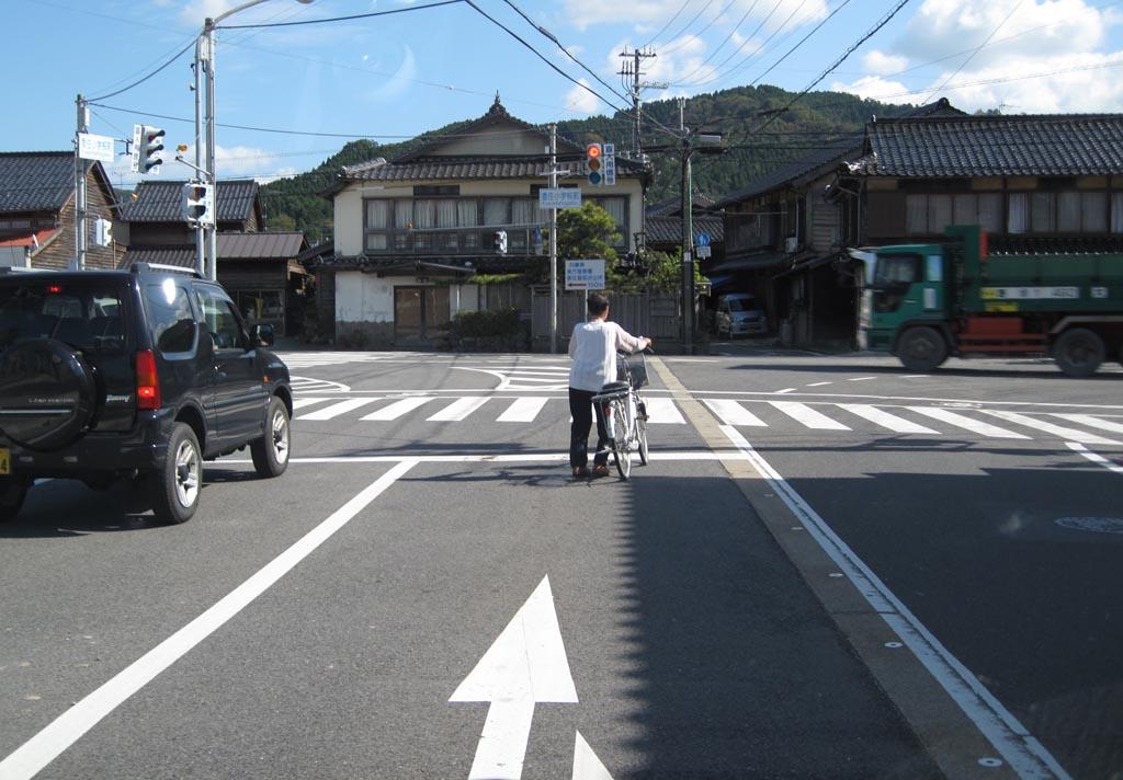 自転車に道路を走らせるからこういうのが出る(拡大表示)