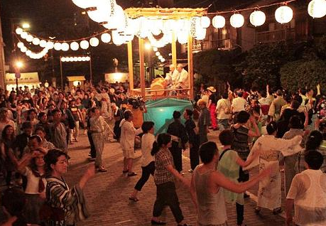 佃島の盆踊り