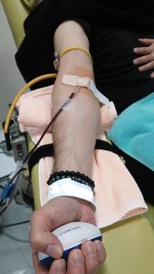 献血中 編集済