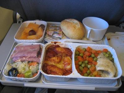 0528 イタリア旅行機内食