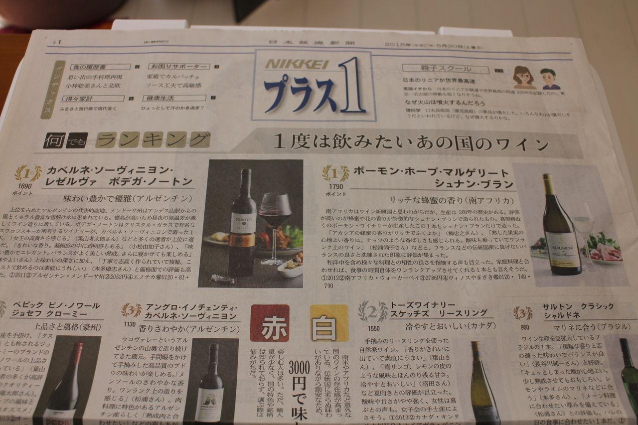 日経新聞プラス1の「何でもランキング」でワインの審査員を務めました!