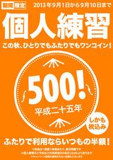 個人練習500円2013