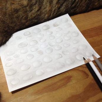 水滴を描く練習