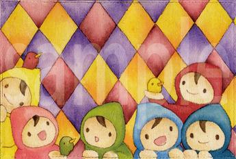 手描きブック虹色ウロコ