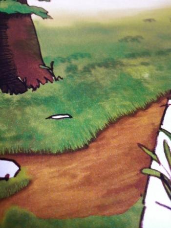 今度は草を描いています
