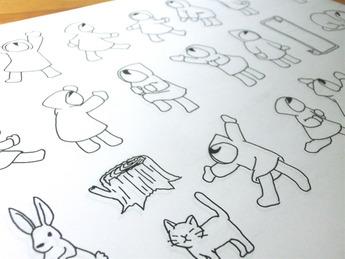 美術教室絵本づくりに挑戦