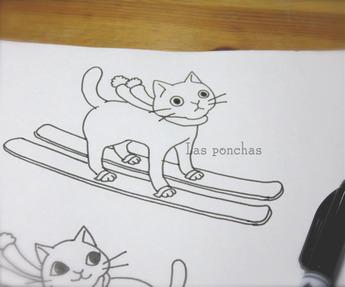 スキーねこ