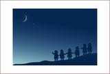月夜のポンチャたち