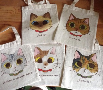 手描き猫バッグちゃんで1