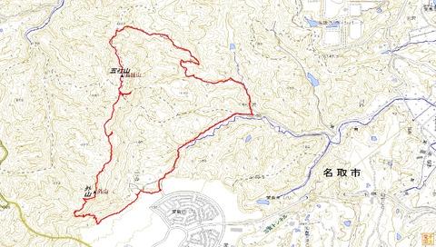外山&五社山ハイクルートマップ