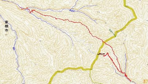 関山峠嶺渡り下見縦走ルート