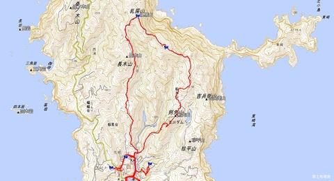 乳房山周回登山ルートマップ