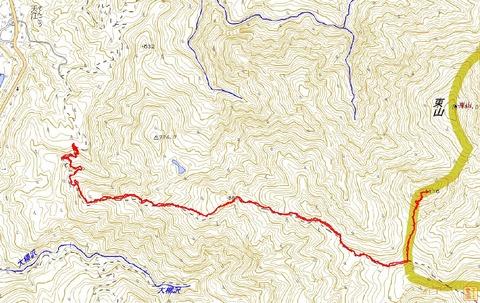 上東山登山コ-スマップ